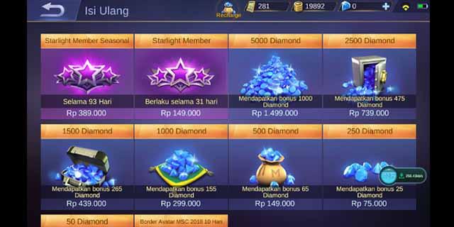 Cara Top Up Diamond Mobile Legends Terbaru dan Lengkap 2021