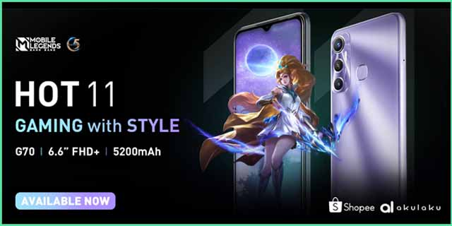 Infinix HOT 11, HP Gaming Harga 1 Jutaan Oktober 2021